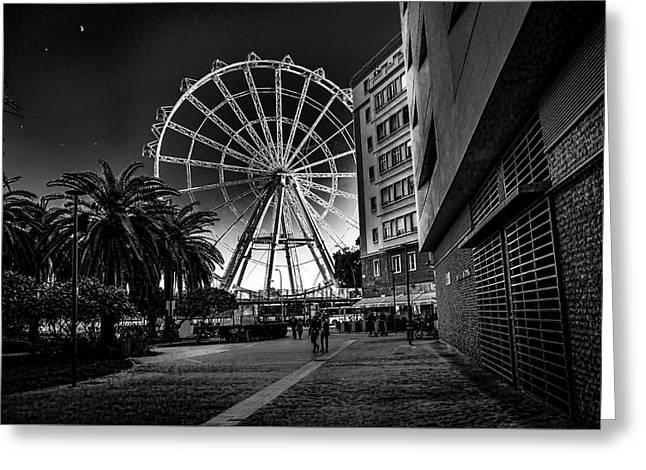 Malaga Ferris Wheel Greeting Card