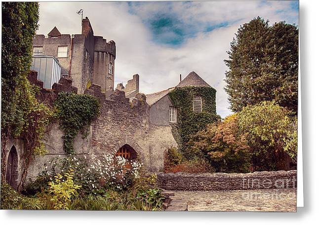 Greeting Card featuring the photograph Malahide Castle By Autumn  by Ariadna De Raadt