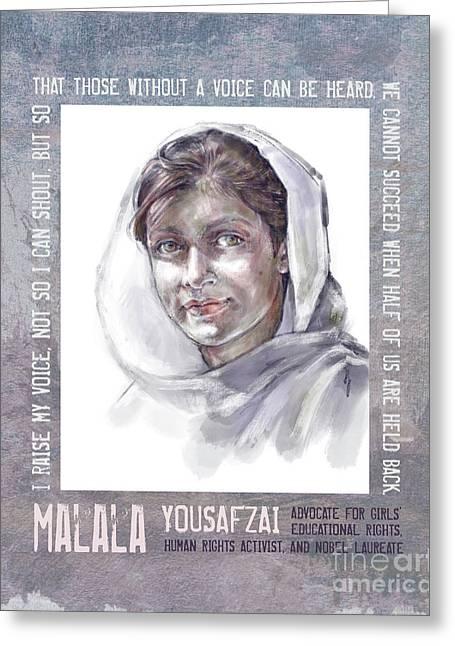 Malala Greeting Card