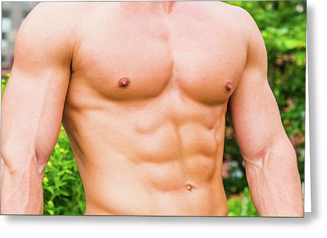 Male Torso 3 Greeting Card