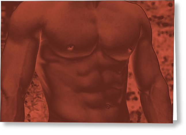 Male Torso Greeting Card