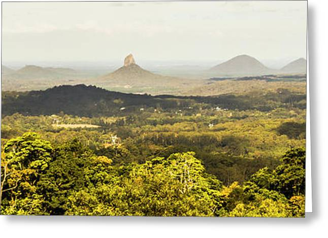Maleny To The Glass House Mountains Greeting Card