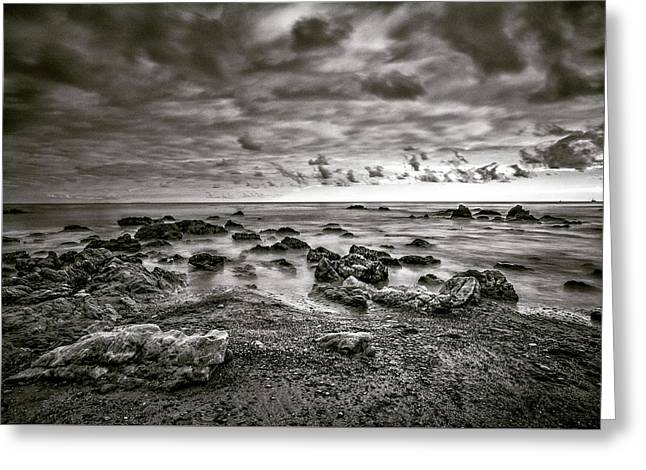 Greeting Card featuring the photograph Malibu Clouds by John Rodrigues