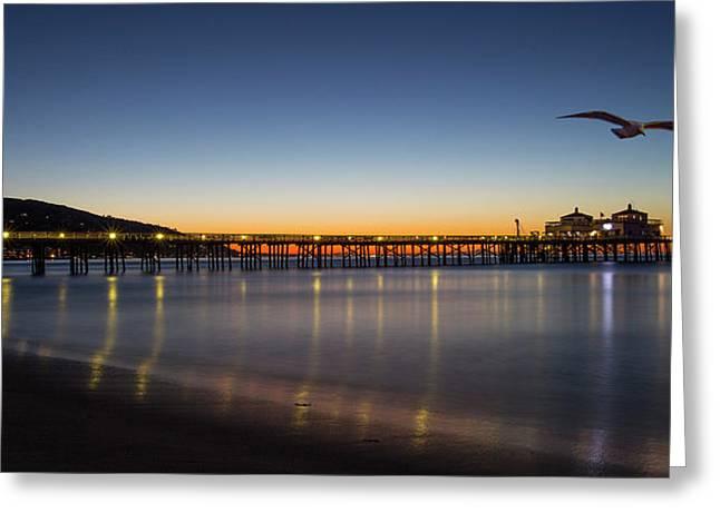 Malibu Pier At Sunrise Greeting Card