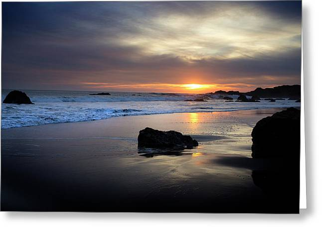 Greeting Card featuring the photograph Malibu Sunset by John Rodrigues