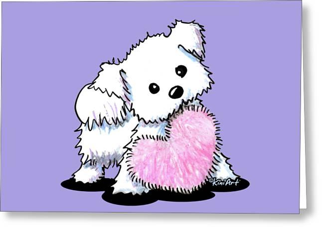 Maltese Heart N Soul Puppy Greeting Card