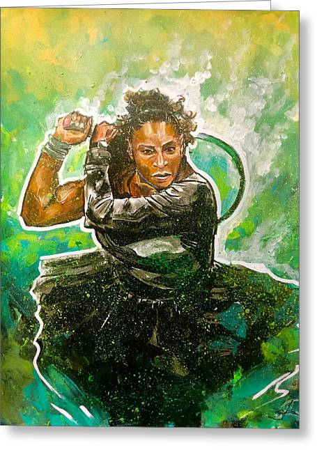 Greeting Card featuring the painting Mama Said Knock You Out by Joel Tesch