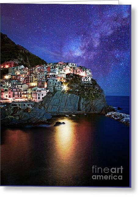 Manarola By Stars Greeting Card