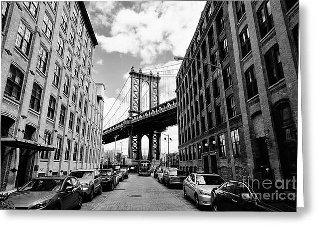 Manhattan Bridge Seen From A Brick Greeting Card