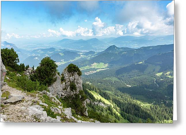 Greeting Card featuring the photograph Mannlsteig, Berchtesgadener Land by Andreas Levi