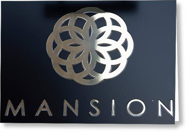 Colours. Mansion Black Greeting Card