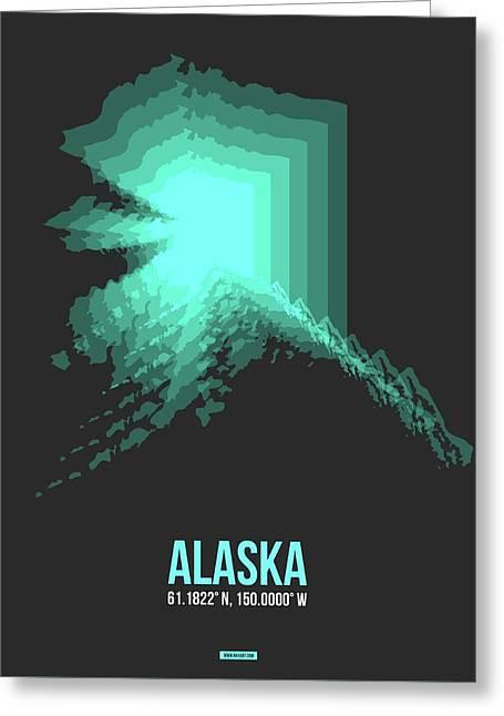 Map Of Alaska 2 Greeting Card