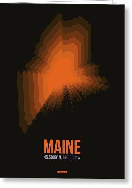 Map Of Maine 1 Greeting Card