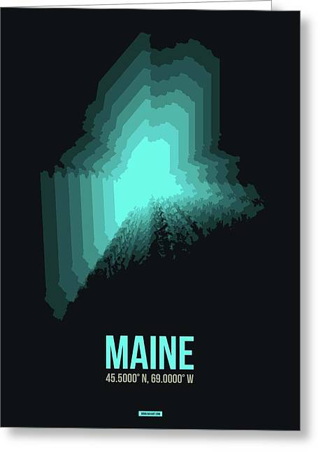 Map Of Maine 2 Greeting Card