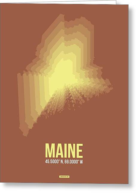Map Of Maine Greeting Card