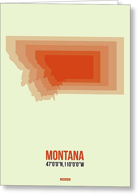 Map Of Montana Greeting Card