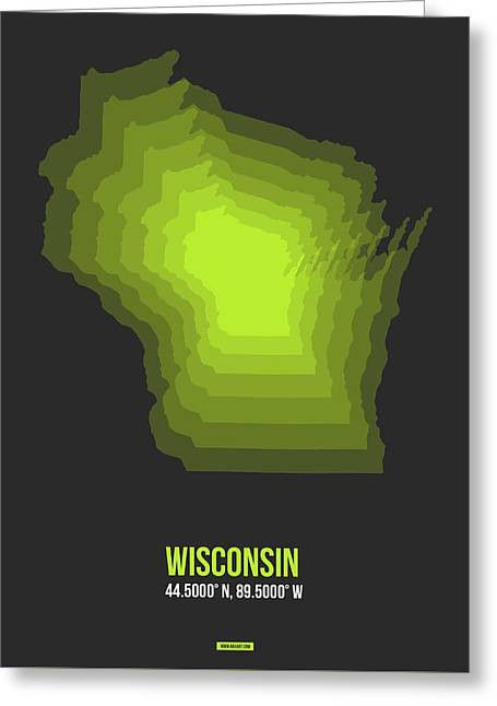 Map Of Wisconsin 2 Greeting Card