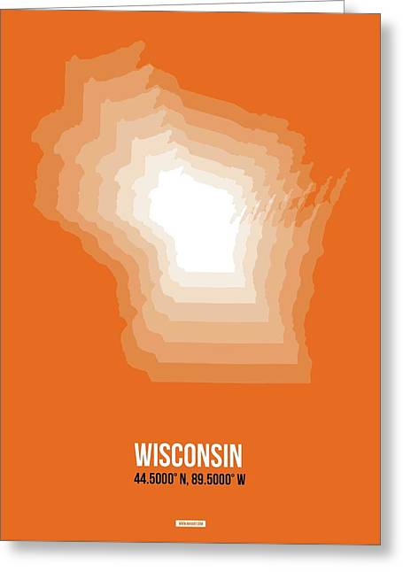 Map Of Wisconsin Greeting Card