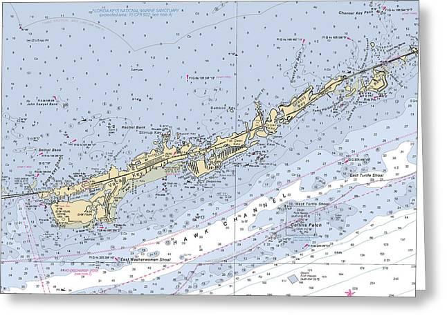 Marathon And Duck Keys Custom Noaa Nautical Chart Greeting Card