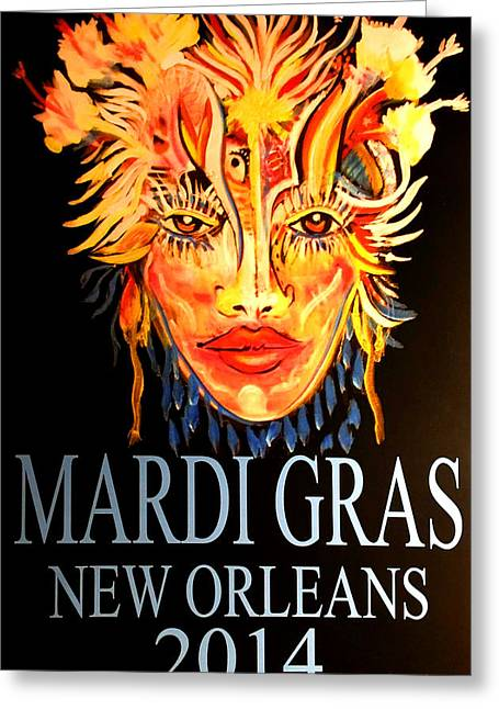 Mardi Gras Lady Greeting Card