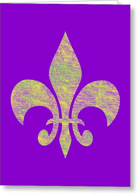 Mardi Gras Party Fleur De Lis Greeting Card