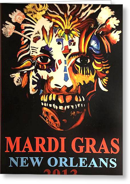 Mardi Gras Spirit 2013 Greeting Card