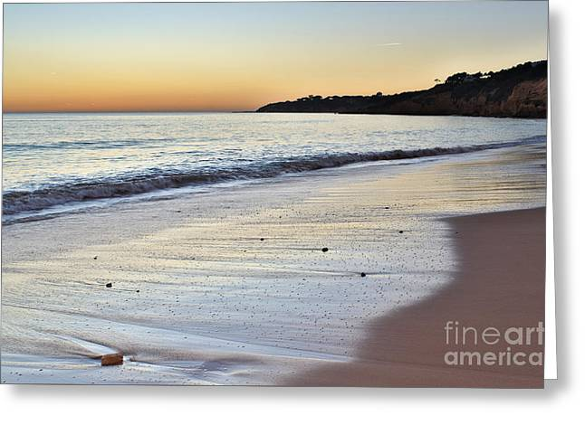 Maria Luisa Beach In Albufeira Greeting Card
