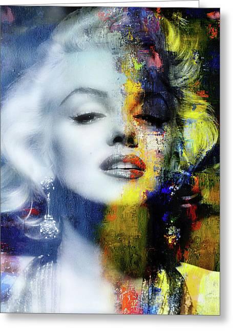 Marilyn Duality Greeting Card