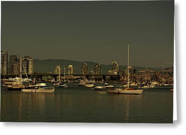 Marina Golden Hours Greeting Card