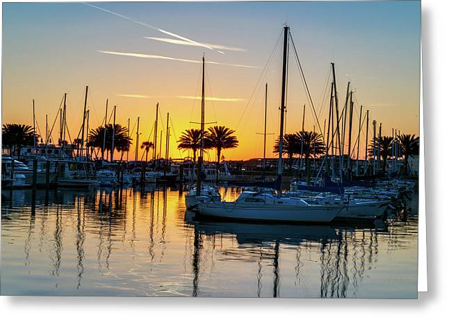 Marina Sunrise-1 Greeting Card
