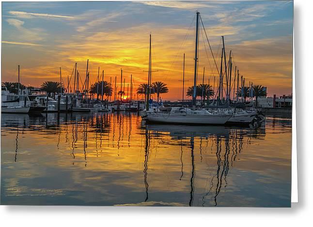Marina Sunrise-2 Greeting Card