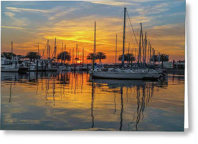 Marina Sunrise-2 Greeting Card