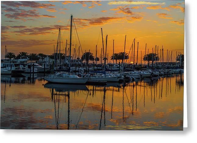 Marina Sunrise-3 Greeting Card