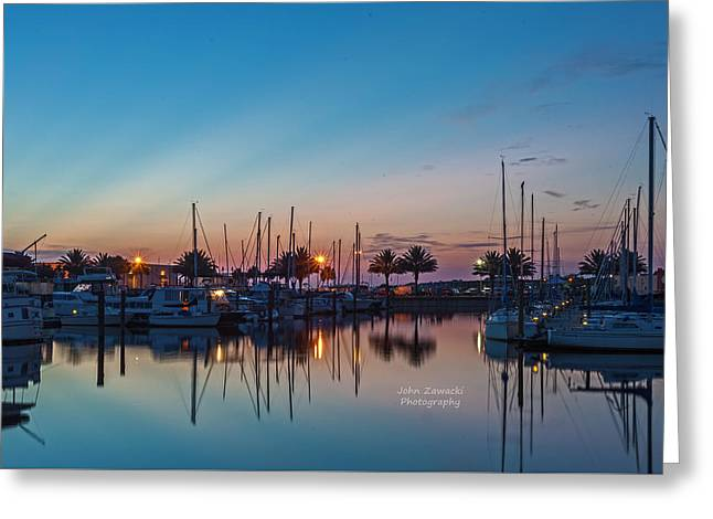Marina Sunrise-4 Greeting Card