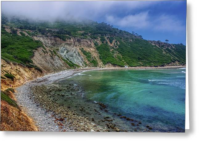 Marine Layer Over Bluff Cove Greeting Card