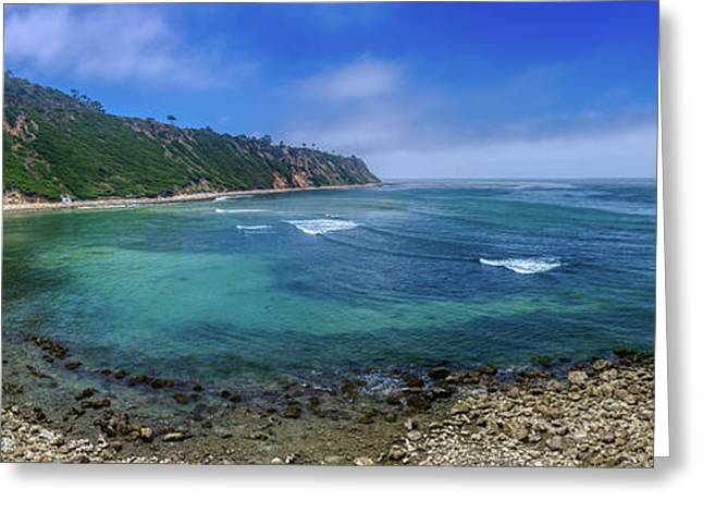Marine Layer Over Bluff Cove Panorama Greeting Card