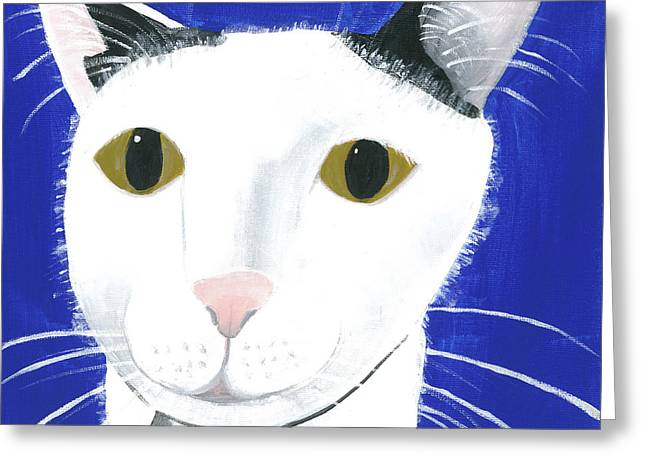 Greeting Card featuring the painting Marley by Suzy Mandel-Canter