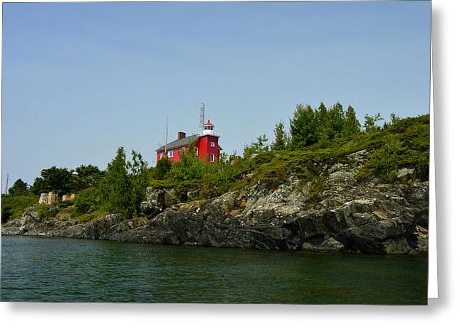 Marquette Michigan Lighthouse Greeting Card