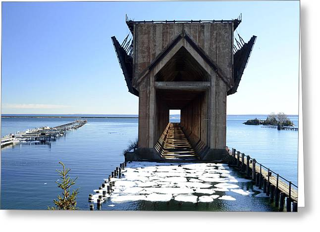 Marquette Ore Dock Cathedral Greeting Card