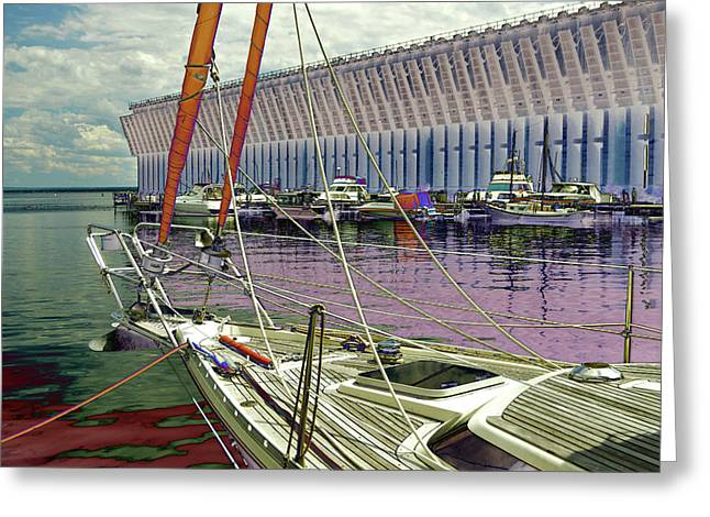 Marquette Ore Dock Lower Harbor. Greeting Card