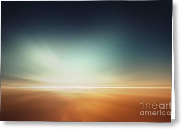Mars Desert Like Fantasy Landscape Greeting Card