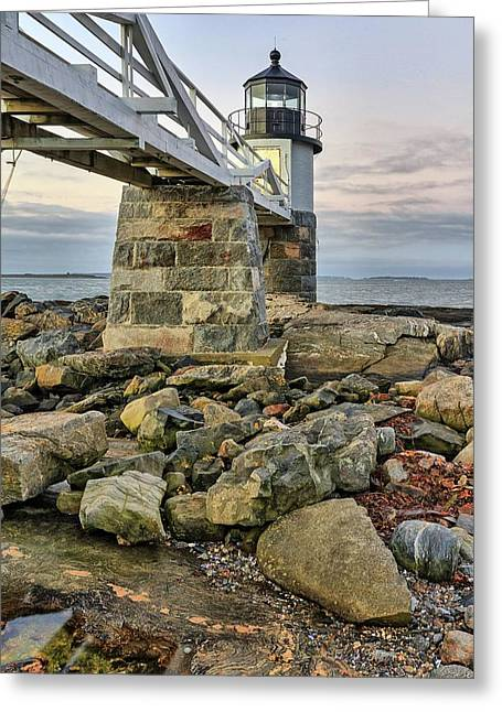 Marshall Point Light From The Rocks Greeting Card