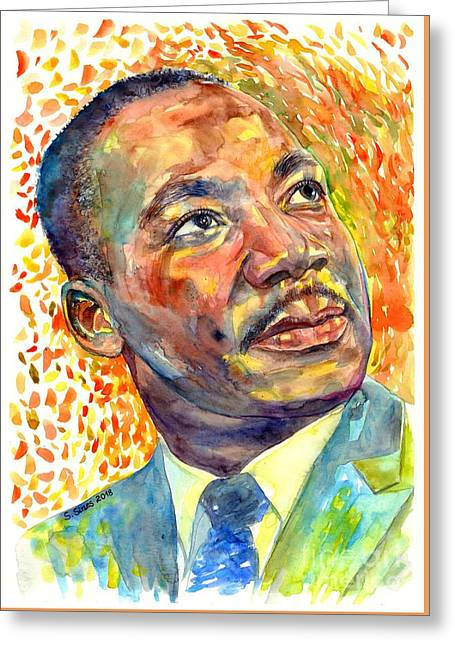 Martin Luther King Jr Portrait Greeting Card