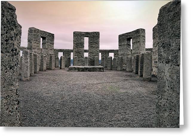 Maryhill Stonehenge Greeting Card by Leland D Howard