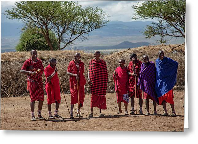 Maasai Men Greeting Card