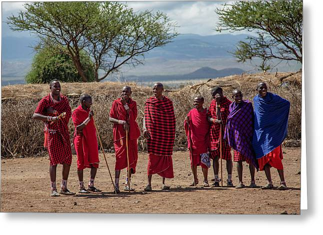 Maasai Men Greeting Card