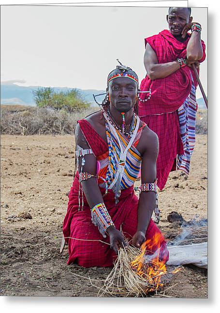 Maasai Warrior Greeting Card