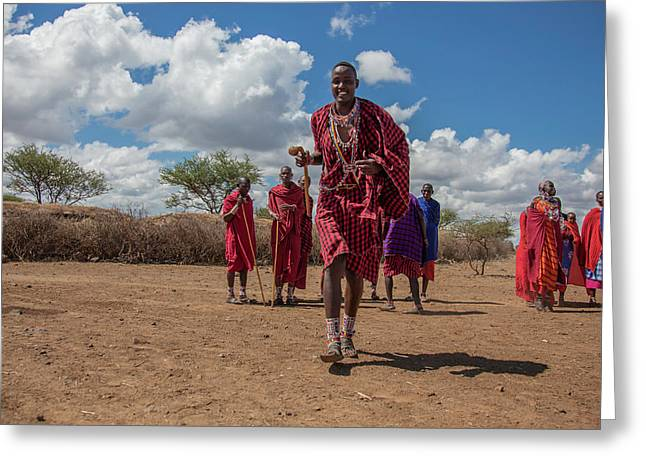 Maasai Welcome Greeting Card