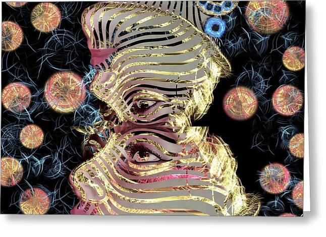 Mask My Minds Eye Greeting Card