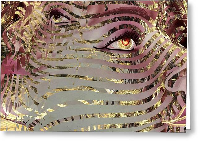 Mask What Hides 4 Greeting Card